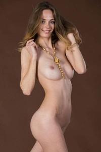 Model Irene in Brown Background