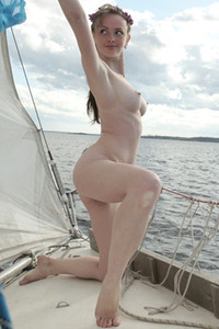 Model Vega in Girl on a yacht