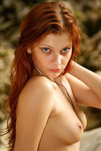 Model Indiana in By The Mountain Stream