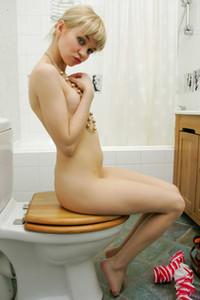 Model Cindy B in Bathroom