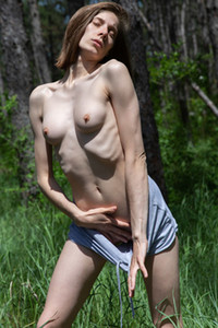 Model Anna R in Lost in the forest
