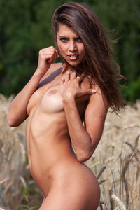 Model Valya in In the Wheat Field