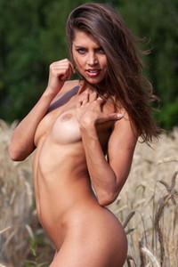 Model Valya in In the Wheat Field