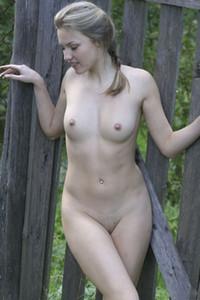 Model Lana Y in Corral For Naked Girls